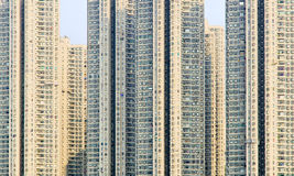 Construcción de viviendas Hon Kong China Foto de archivo libre de regalías