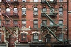 Construcción de viviendas, Manhattan, New York City Imagen de archivo