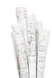 Construcción de viviendas, planes del edificio Foto de archivo