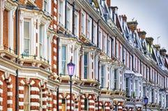 Construcción de viviendas típica en Oeste-Londres. Foto de archivo libre de regalías