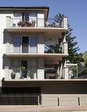 Construcción de viviendas urbana Imagen de archivo libre de regalías