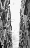 Construcción de viviendas vieja en Hong Kong Imágenes de archivo libres de regalías