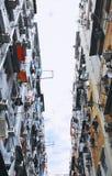 Construcción de viviendas vieja en Hong Kong Fotografía de archivo