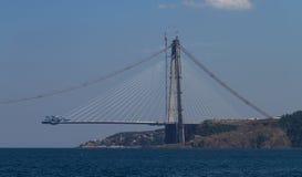 Construcción de Yavuz Sultan Selim Bridge Fotos de archivo