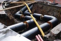 Construcción del abastecimiento de agua Foto de archivo libre de regalías