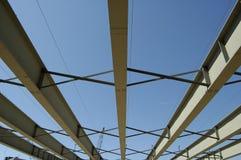 Construcción del acero del puente Fotografía de archivo