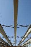 Construcción del acero del puente Imagen de archivo libre de regalías