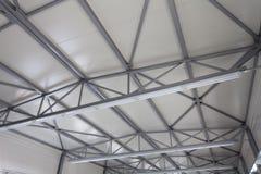 Construcción del acero del tejado Fotografía de archivo