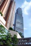 Construcción del anuncio publicitario y de viviendas de Hong-Kong Fotografía de archivo libre de regalías