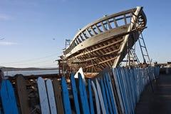 Construcción del barco de pesca Foto de archivo libre de regalías