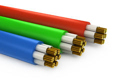Construcción del cable eléctrico Fotografía de archivo libre de regalías
