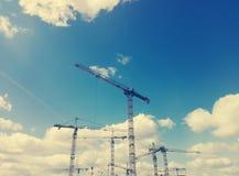 Construcción del cielo Imágenes de archivo libres de regalías