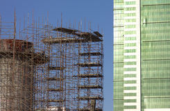 Construcción del edificio del rascacielos Fotografía de archivo libre de regalías