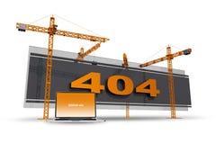 Construcción del error 404 Foto de archivo libre de regalías