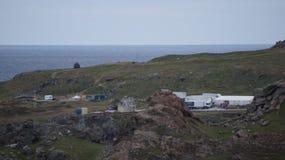 Construcción del escenario de película de Star Wars en Malin Head, Irlanda Imágenes de archivo libres de regalías