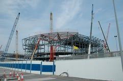 Construcción del estadio Imagenes de archivo