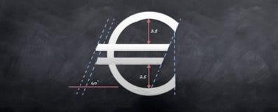 Construcción del euro Imágenes de archivo libres de regalías
