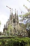 Construcción del familia de Sagrada en Barcelona Imagenes de archivo