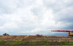 Construcción del ferrocarril Foto de archivo libre de regalías