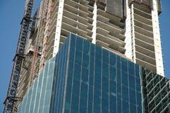 Construcción del Highrise Fotos de archivo libres de regalías