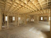 Construcción del interior de la nueva casa Foto de archivo