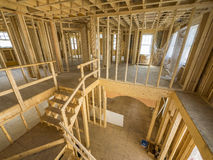 Construcción del interior de la nueva casa Imagenes de archivo