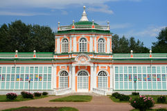 Construcción del invernadero (estado de Kuskovo cerca de Moscú) Imagenes de archivo