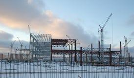 Construcción del invierno foto de archivo libre de regalías