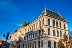 Construcción del museo del arte decorativo en Praga imágenes de archivo libres de regalías