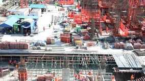 Construcción del negocio del edificio en Tailandia metrajes