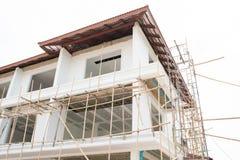 Construcción del nuevo edificio casero Foto de archivo