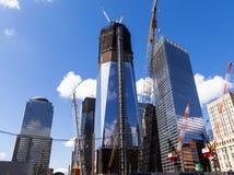 Construcción del nuevo World Trade Center en Manhattan, nueva después del sept. 11, 2001 Foto de archivo