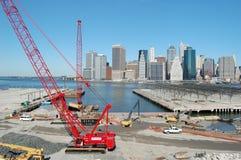 Construcción del parque del puente de Brooklyn Fotografía de archivo