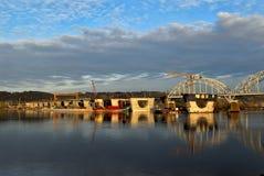 Construcción del puente Imagen de archivo libre de regalías