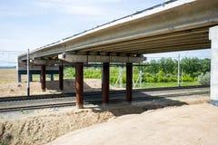 Construcción del puente Imágenes de archivo libres de regalías