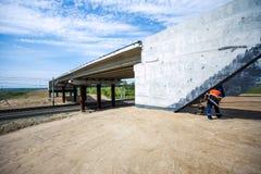 Construcción del puente Fotografía de archivo