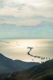 Construcción del puente de Hong Kong-Zhuhai-Macau imagenes de archivo