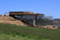 Construcción del puente y del andamio Imagen de archivo libre de regalías