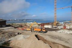 Construcción del puerto Fotos de archivo