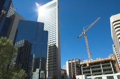 Construcción del rascacielos Imagen de archivo libre de regalías