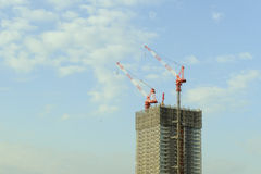 Construcción del rascacielos Imagen de archivo