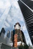 Construcción del rascacielos de Nueva York imagenes de archivo