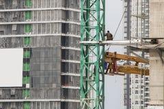 Construcción del rascacielos en Bangkok Foto de archivo