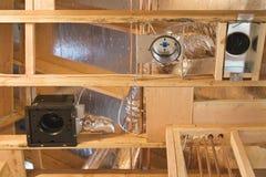 Construcción del respiradero de la HVAC Fotos de archivo libres de regalías