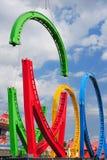 Construcción del roller coaster Foto de archivo libre de regalías