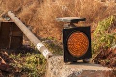 Construcción del semáforo Fotografía de archivo libre de regalías