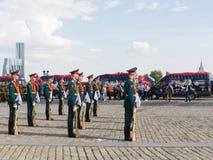 Construcción del solo Preobrazhensky regimiento de 154 en Victory Pa Imagen de archivo libre de regalías