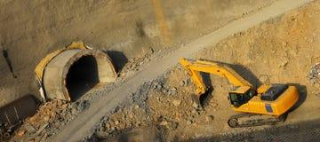 Construcción del túnel Imagenes de archivo