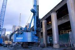 Construcción del túnel de Seattle Imagen de archivo