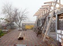 Construcción del tejado Foto de archivo libre de regalías